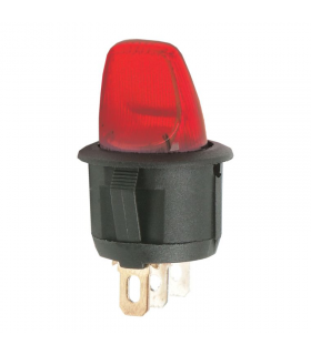 Comutator cu brat 1 circuit off-on 6A 250V rosu