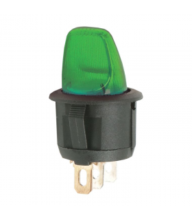 Comutator cu brat 1 circuit OFF-ON 6A 250V verde