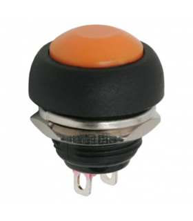 Buton 1 circuit 1A 250V OFF-ON portocaliu