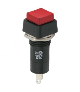Intrerupator 1 circuit 1A 250V OFF-ON rosu cu retinere