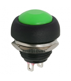 Buton 1 circuit 1A 250V OFF-ON verde