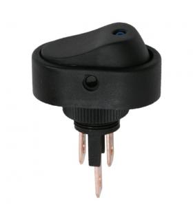 Interupator basculant 1 circuit 12V 20A OFF-ON LED albastru