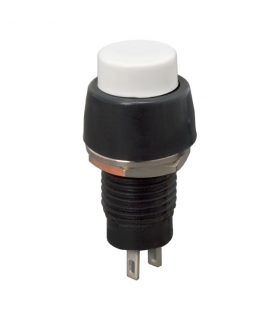 Buton 1 circuit 2A 250V OFF-ON fara retinere alb