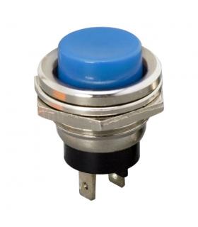 Buton 1 circuit 2A 250V OFF-ON fara retinere albastru 09065KE