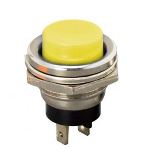 Buton OFF-ON fara retinere 1 circuit 2A 250V galben