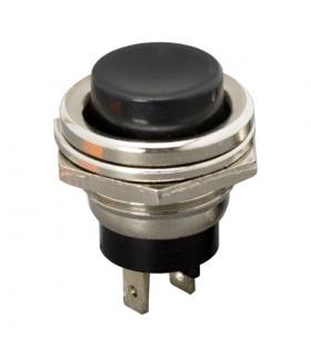 Buton 1 circuit 2A 250V OFF-ON fara retinere negru 09065FK