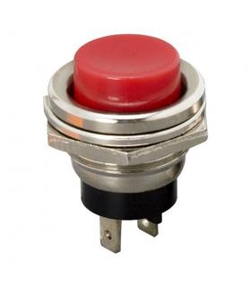 Buton 1 circuit 2A 250V OFF-ON fara retinere rosu 09065PI