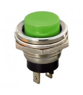 Buton 1 circuit 2A 250V OFF-ON fara retinere verde 09065ZO