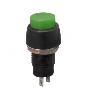 Buton 1 circuit 2A 250V OFF-ON fara retinere verde 09067ZO