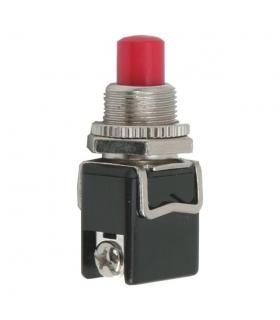 Buton 1 circuit 4A 250V OFF-ON fara retinere rosu