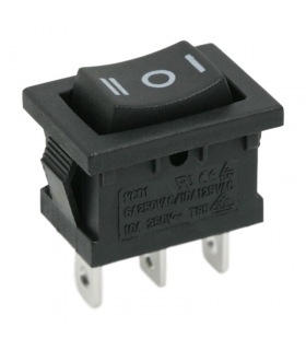 Interupator basculant 1 circuit 6A 250V ON-OFF-ON cu retinere