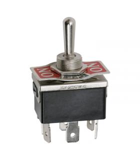 Comutator cu brat 2 circuit 10A 250V ON-OFF-ON