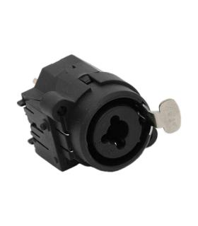 Mufa XLR-Jack 3 pini XLR si 6.3mm Jack montabil mono
