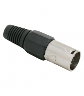 Mufa XLR C poli tata cu fleaca de prindere protectie cablu
