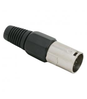 Fisa XLR C poli cu fleaca de prindere protectie cablu