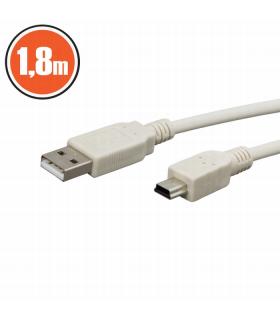 Cablu Usb2.0 fisa A la fisa B mini 1.8m