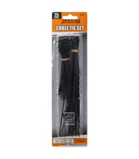 Coliere plastic negre 75buc Handy