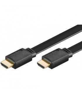 Cablu Hdmi plat 2m 2.0v Ethernet 3D Goobay