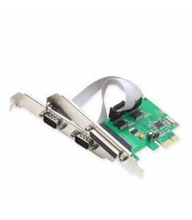 Placa PCI Express la 2xRS232 si paralel