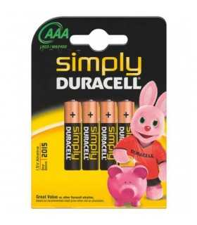 Baterii Duracell alcaline micro AAA R03 4buc