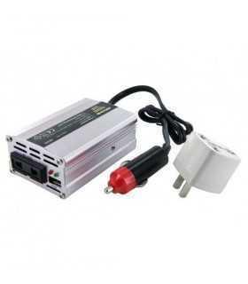 Invertor 12VDC la 230VAC unda sinus modulat 150W si 3A USB Whitenergy