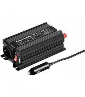 Invertor 12VDC la 230VAC unda sinus modulat 300W +Usb Goobay