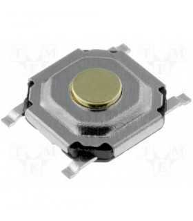 Buton  microcontact 4 pini OFF-ON 5x5mm fara retinere buton 0.4mm de la PCB 1.5mm