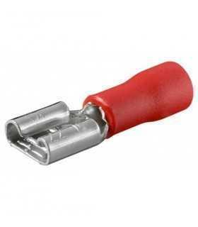 Conector mama rosu cablu 0.5-1mm 2.8x0.8mm Goobay
