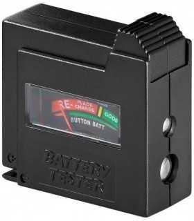 Tester baterii cu display analogic pentru AAA AA C D 9V si N Goobay