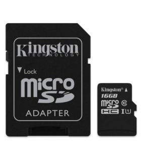 Card micro SD 16GB clasa 4 cu adaptor SD Kingston