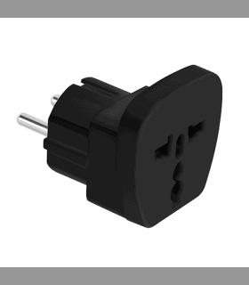 Adaptor tensiune universal 16A negru