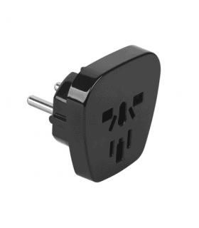 Adaptor tensiune universal 10A negru