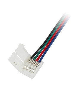 Conector banda LED 10mm 5050 RGB