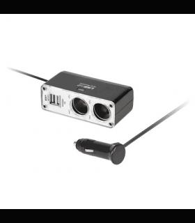 Adaptor bricheta la 2 brichete +2 Usb pentru 12V-24V