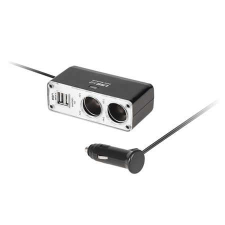 Cablu adaptor bricheta la 2 brichete +2 USB pentru 12V-24V MONOTECH