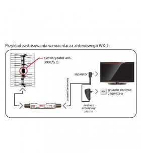 Amplificator pe cablu de antena DVB-T 10-15dB