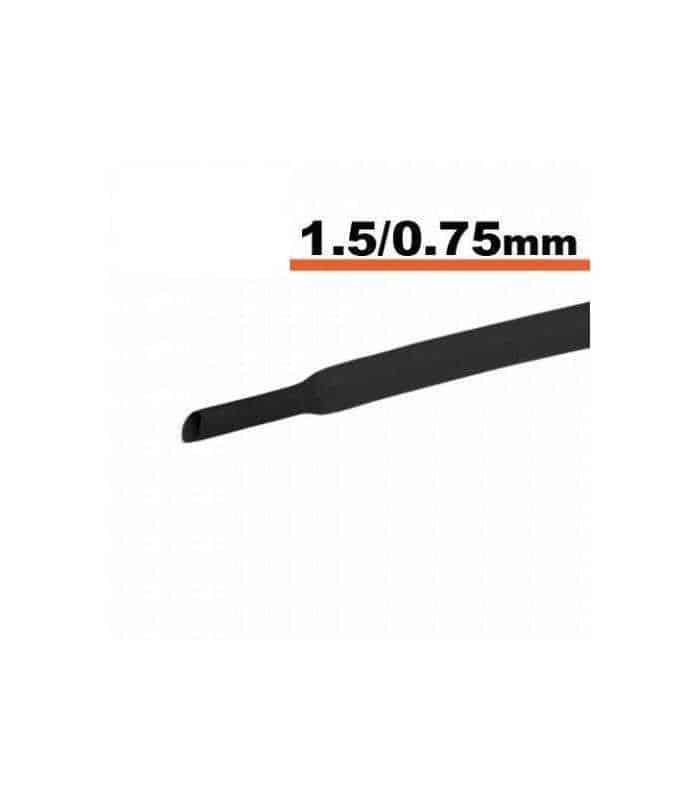 Tub termocontractibil negru 1.5mm/ 0.75mm 0.5m