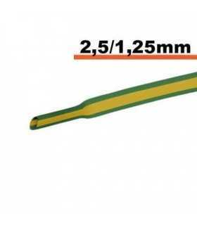 Tub termocontractibil galben-verde 2.5mm/ 1.25mm 0.5m