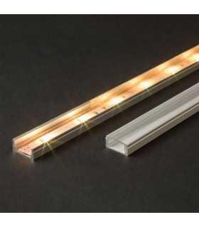 Profil U din aluminiu pentru benzi LED 1000x17x8mm