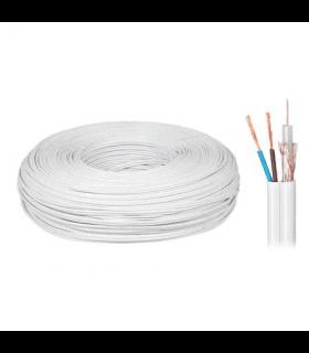 Cablu coaxial 75 cu/cu si 2x0.5mm cupru 200m Cabletech