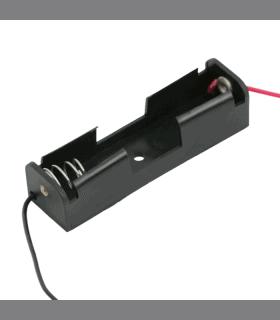 Suport pentru baterie AA 1buc cu contacte pentru lipire