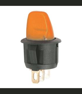 Intrerupator cu brat 1 circuit OFF-ON 6A-250V cu lumina partocalie
