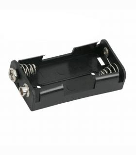 Suport pentru baterii 2buc AA cu mufa de conectare 9V