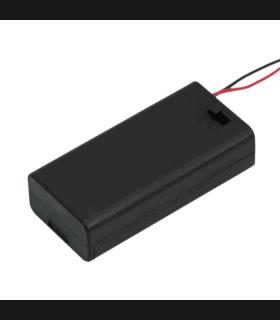 Suport baterii 2buc AA cu fir capac si intrerupator