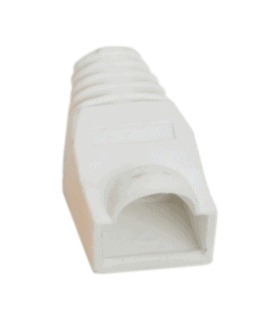 Protectie alba pentru cablu cu modular fisa 8P8C