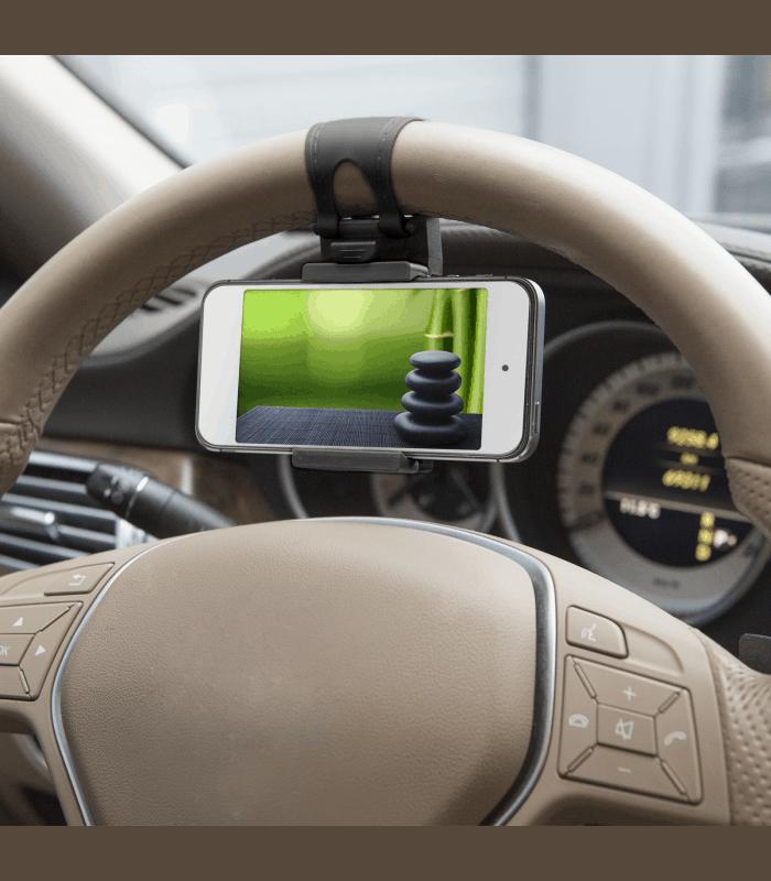 Suport telefon pentru volan negru