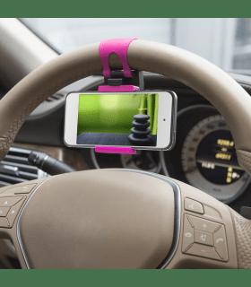 Suport telefon pentru volan pink