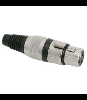 Solcu XLR 3 poli cu fleaca de prindere protectie pentru cablu