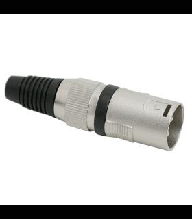 Fisa XLR 3 poli cu fleaca de prindere protectie pentru cablu