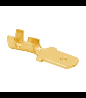 Papuc 6.3mm tata Gold